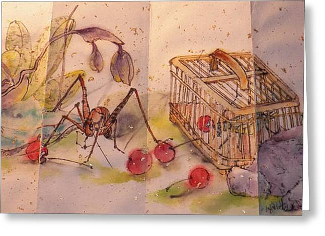 Album Of Crickets Greeting Card by Debbi Saccomanno Chan