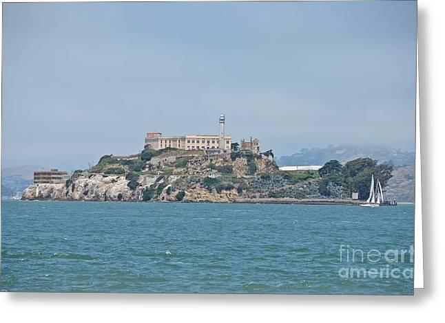 Alcatraz Island Greeting Card by Cassie Marie Photography