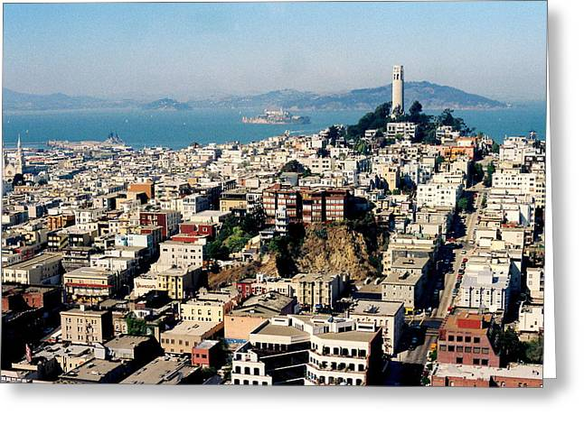 Alcatraz Greeting Card by Trent Mallett