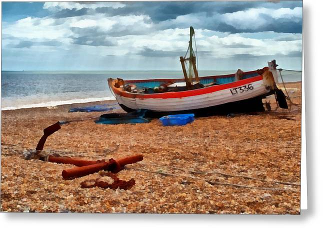 Aldeburgh Fishing Boat Greeting Card