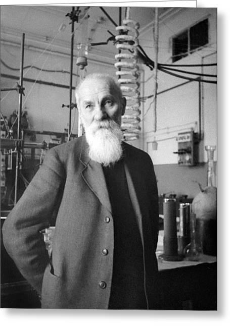 Aleksey Bakh, Soviet Biochemist Greeting Card by Ria Novosti