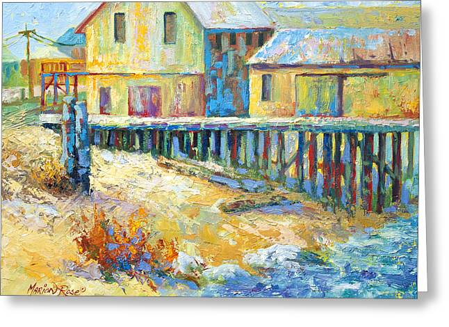 Alert Bay Cannery Greeting Card by Marion Rose