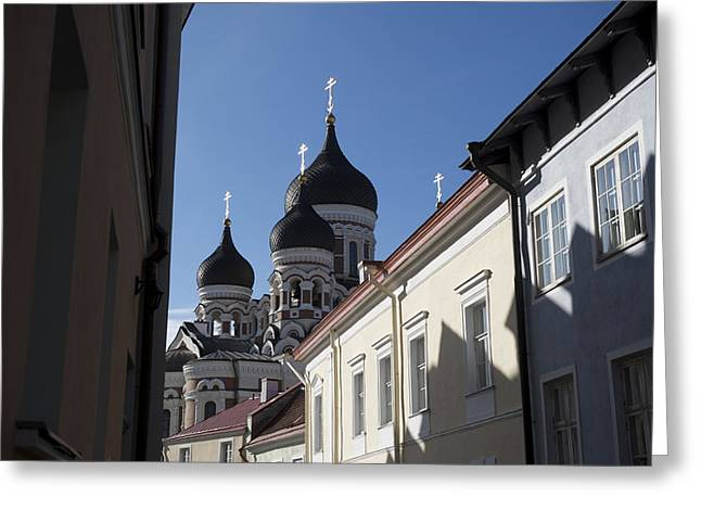 Alexander Nevsky Cathedral Greeting Card by Keenpress