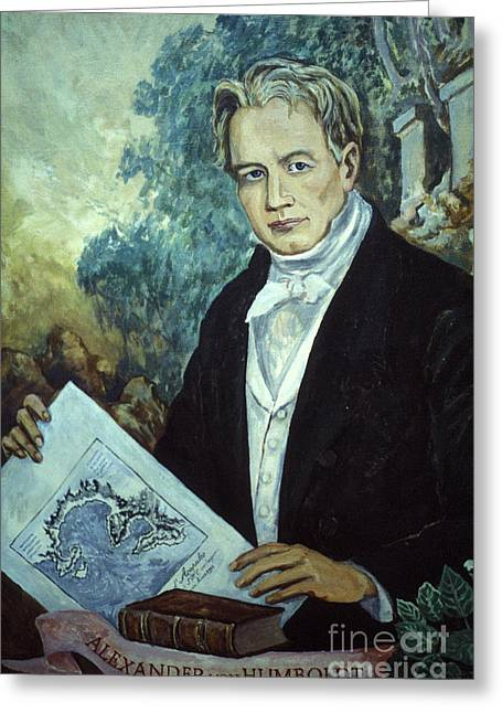 Alexander Van Humboldt Portrait Taxco Mexico Greeting Card by John  Mitchell