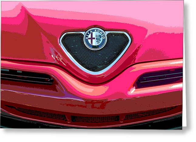 Alfa Romeo Grille Greeting Card by Samuel Sheats