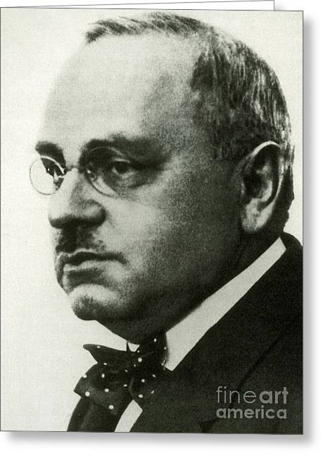 Alfred Adler, Austrian Psychologist Greeting Card by Science Source