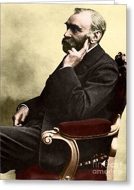Alfred Nobel, Swedish Chemist Greeting Card by Science Source