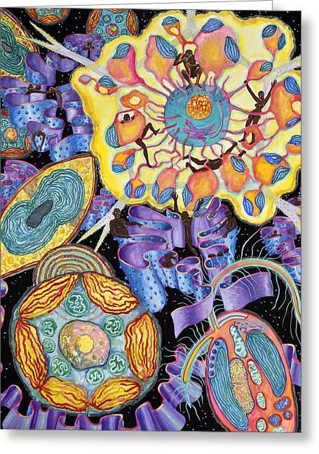 Algae Paintings Greeting Cards - Algae Greeting Card by Shoshanah Dubiner