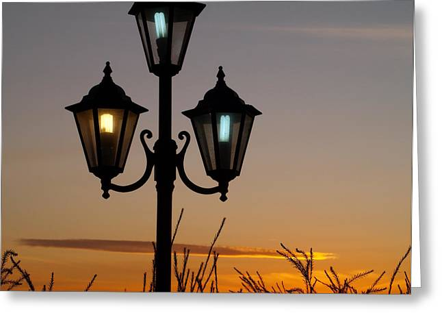 Algarve Lamps Greeting Card by Michael Canning
