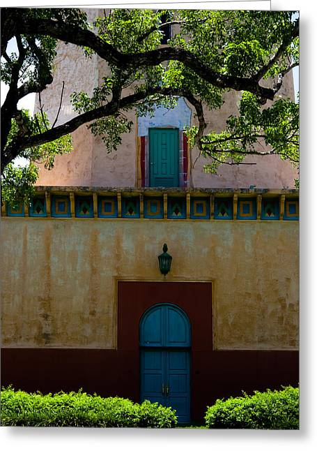 Alhambra Water Tower Doors Greeting Card