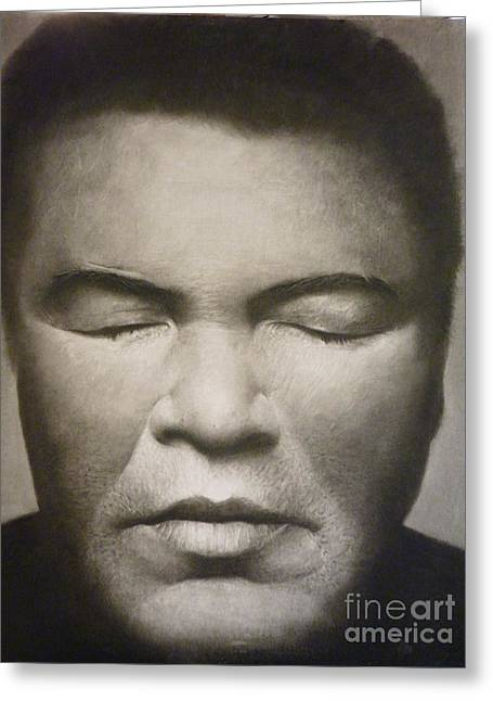 Ali  Greeting Card by Adrian Pickett Jr