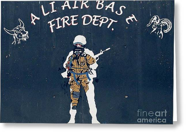 Ali Air Base Fd Greeting Card by Unknown