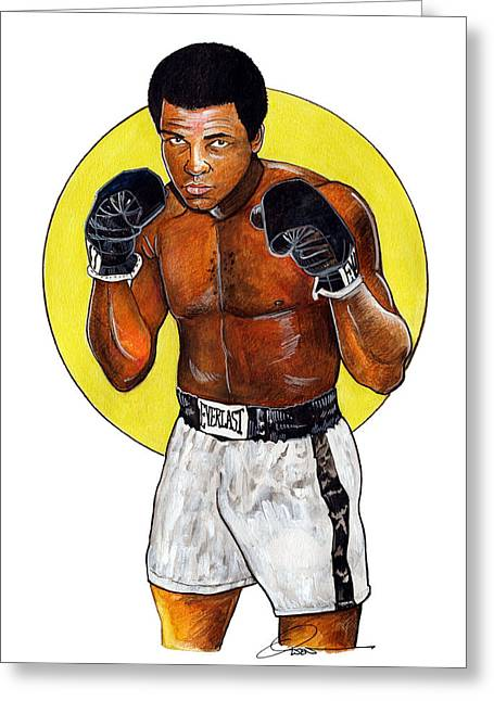 Ali Greeting Card by Dave Olsen