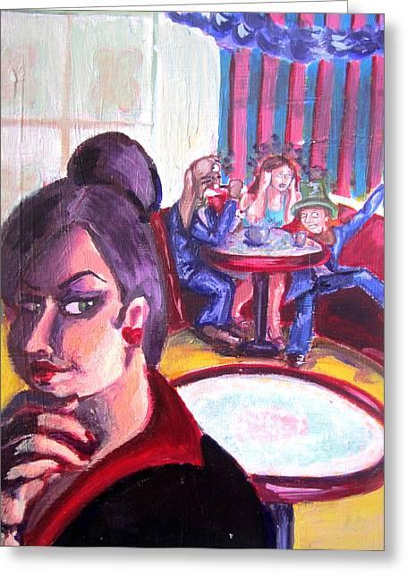 Alice Trippin' In Wonderland Greeting Card by Hannah Chusid
