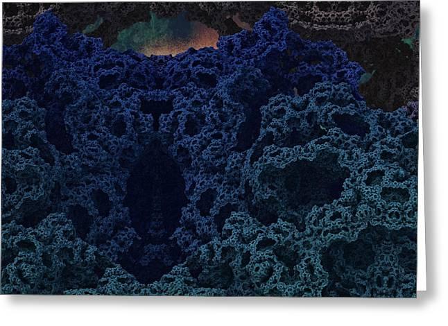 Alien Cave Greeting Card by Thomas  MacPherson Jr