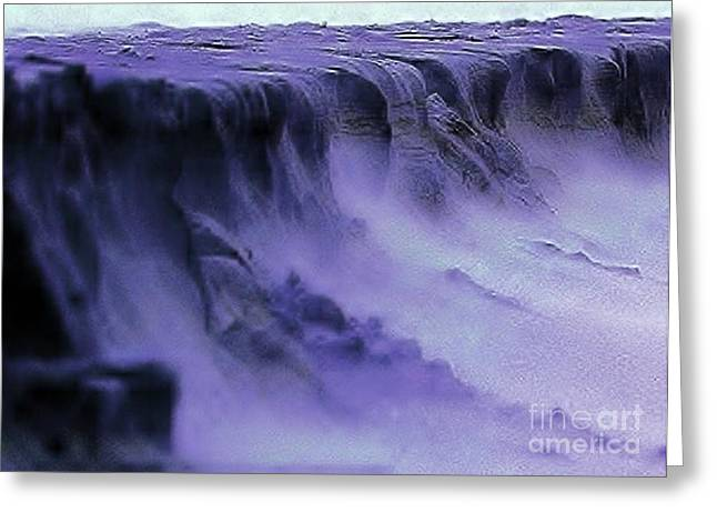 Greeting Card featuring the photograph Alien Landscape The Aftermath by Blair Stuart