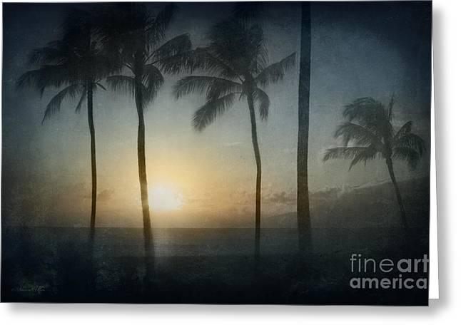 Alii Kahekili Nui Ahumanu Beach Kaanapali Maui Hawaii Greeting Card by Sharon Mau