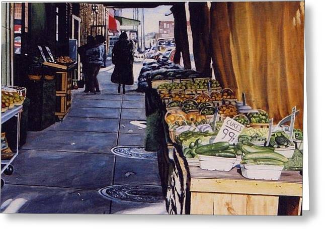 Alioto's Produce Greeting Card by James Guentner