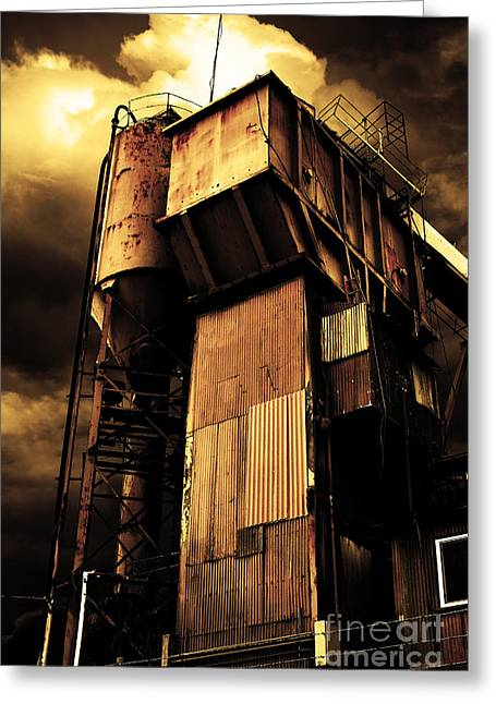 Alive And Well In America . The Old Concrete Plant In Berkeley California . Golden . 7d13967 Greeting Card by Wingsdomain Art and Photography