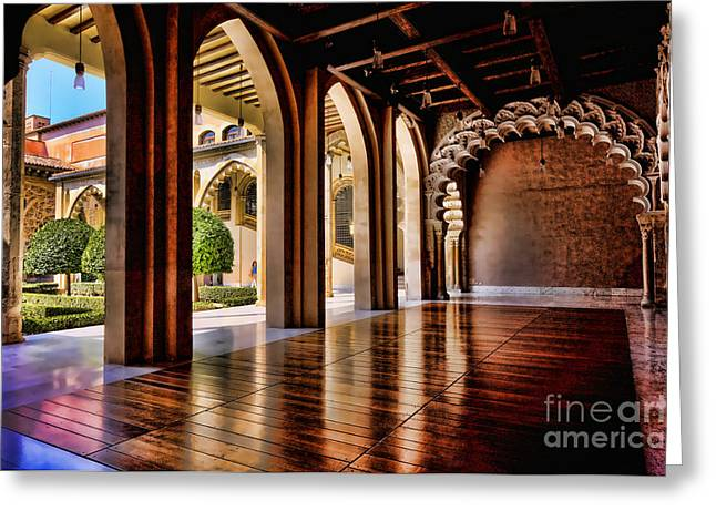 Aljaferia Palace Zaragoza Colour II Greeting Card by Jack Torcello