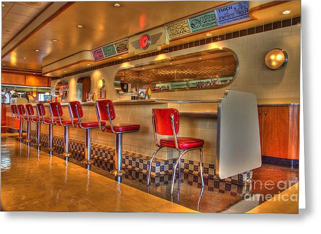 All American Diner 2 Greeting Card by Bob Christopher