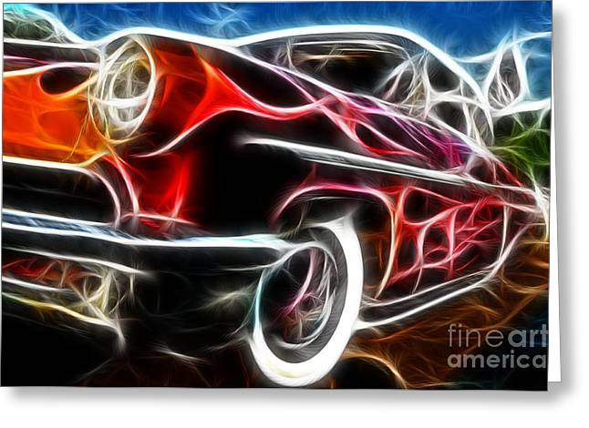 All American Hot Rod Greeting Card by Paul Ward