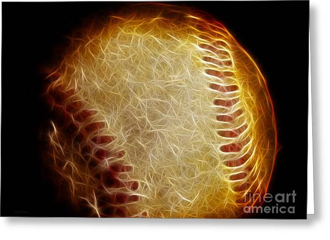 All American Pastime - The Fastball Greeting Card by Wingsdomain Art and Photography