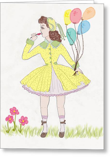 All Dressed Up Greeting Card by Rosalie Scanlon