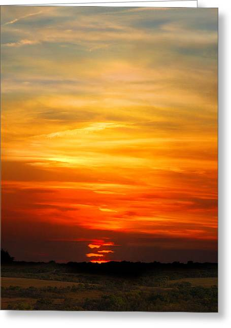 Greeting Card featuring the photograph All Hallows Eve Sunset by Rod Seel