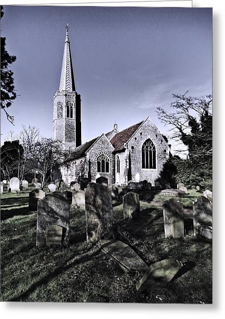 All Saints Wickham Market Greeting Card by Darren Burroughs