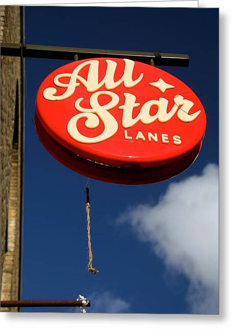 All Star Greeting Card by Jez C Self