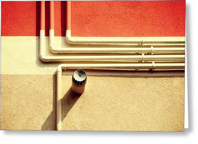 All That Jazz #geometry #color #pipes Greeting Card by A Rey
