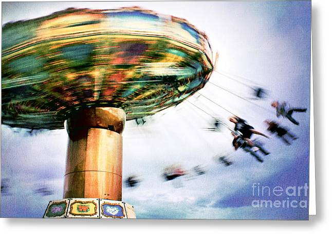 All The Fun Of The Fair Greeting Card by Catherine MacBride