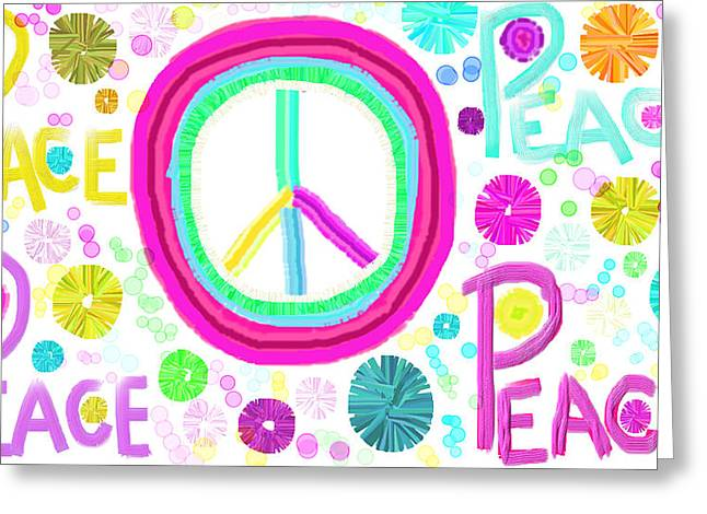 All The Peace Greeting Card by Rosana Ortiz