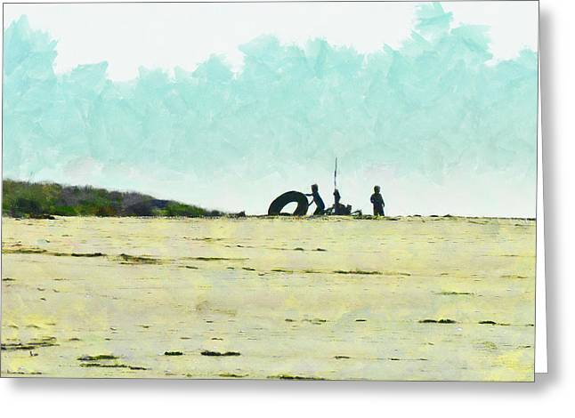 All You Need Is A Camp And A Big Rubber Ring Greeting Card by Steve Taylor
