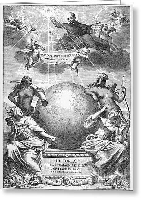 Allegory: Jesuit Order Greeting Card by Granger