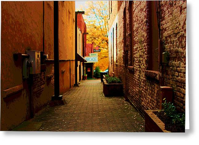 Alley Arcade  Greeting Card