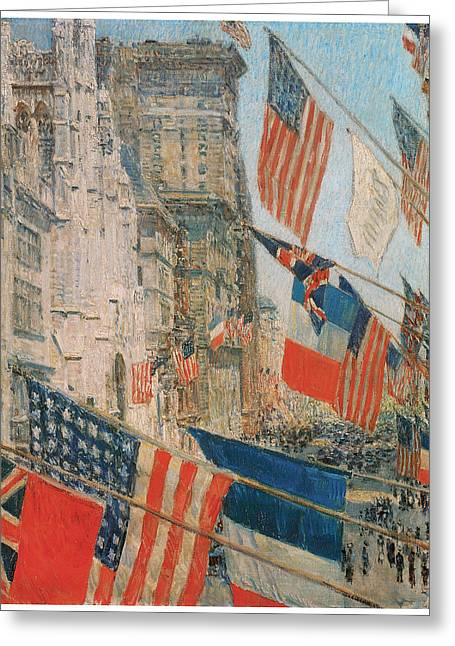 Allies Day Greeting Card by Frederick Childe Hassam