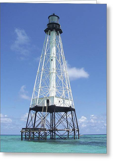 Alligator Reef Lighthouse Greeting Card by Kevin Brant