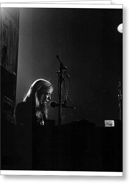 Allman Brothers Greg Allman In Concert Greeting Card