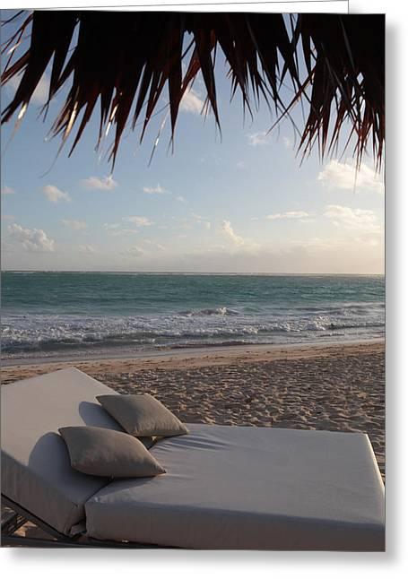 Alluring Tropical Beach Greeting Card by Karen Lee Ensley