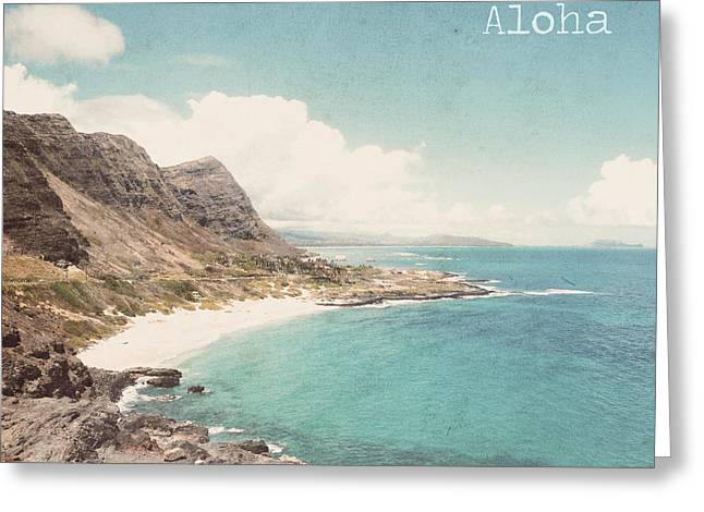 Aloha Greeting Card by Nastasia Cook