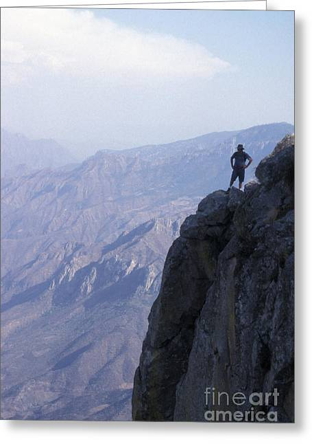 Greeting Card featuring the photograph Alone At Last Copper Canyon Mexico by John  Mitchell