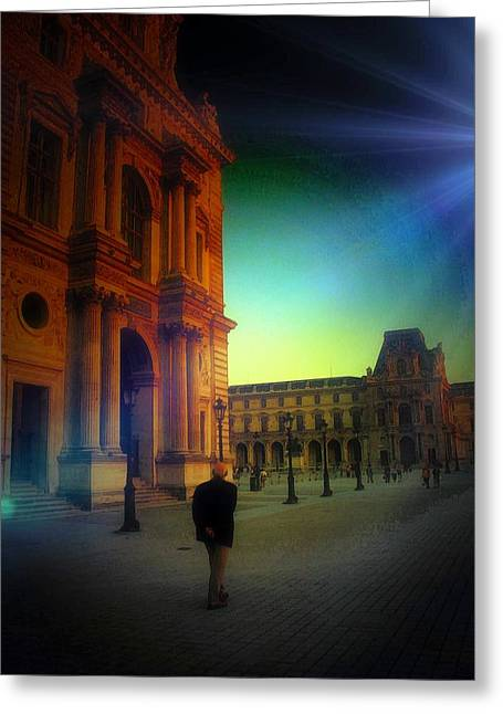 Alone In Paris Greeting Card