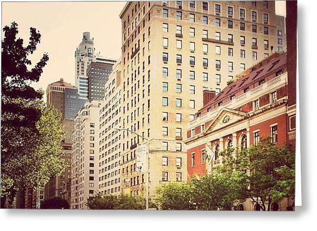 Along Park Avenue - New York City Greeting Card