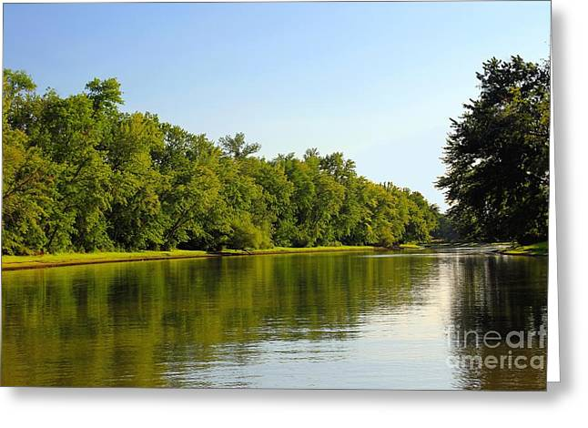 Along The Canal Greeting Card by Sophie Vigneault
