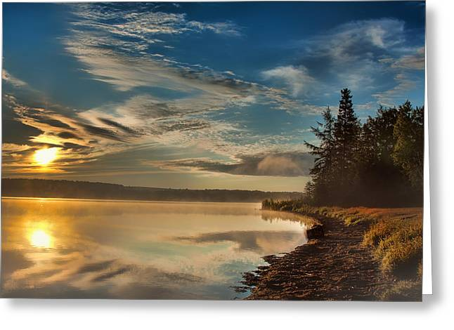 Along The Edge Greeting Card by Gary Smith