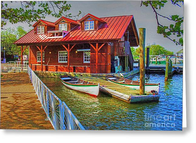 Along The Potamac Greeting Card by Rodney Campbell