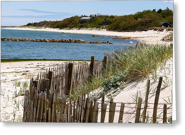 Along The Shoreline Of Brewster Beach Greeting Card