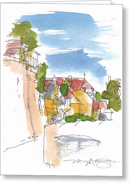 Along The Town Walls Greeting Card